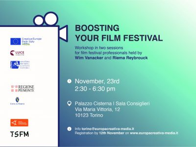 Boosting your Film Festival - TSFM workshop curato da Europe Creative Media